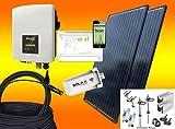 SOLAX 900Watt Balkonkraftwerk/Solaranlage Komplettset mit Internetüberwachung (MIT MONTAGEMATERIAL FÜR FLACHDACH)