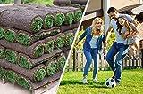 Rollrasen – 30m² echter Fertigrasen - Sorte: Premium Sport- und Spielrasen - Vorgedüngt - Frisch geschält - Gekühlt Geliefert (30 bis 500 qm verfügbar)
