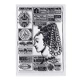 NINGYE Etiketten-Silikon-Stempel, transparent, für Scrapbooking, Prägung, Fotoalbum, Kartengestaltung, Dekoration
