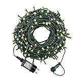 HYGX Led Lichterkette 35m 300led Warmweiße Weihnachtslichter für Drinnen und Draußen Verwenden IP44 Wasserdichte Lichterkette Außen mit 8 Beleuchtungsmodi für Garten und Weihnachtsdekoration