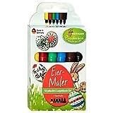 Heitmann Eierfarben 6 Eier-Maler - Stifte - für Kinder - für Eier, Papier und Karton - Ostern - Ostereier bemalen, Ostereierfarbe
