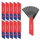 WORKPRO Cuttermesser Klingen 18mm 0,5mm, SK5 Ersatzklingen 100 Stück, Abbrechklinge für Cuttermesser Teppichmesser inkl. Box