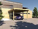 Carport Flachdach Silverstone XXI 300x500 cm Bausatz Flachdachcarport
