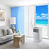 Türabdichtung für Mobile Klimageräte,Klimaanlagen Wäschetrockner Ablufttrockner,Tür und Fenster tragbare Klimaanlage Türabdeckung Seal Kit,Hot Air Stop mit Reißverschluss-Türdichtung,90x 210cm