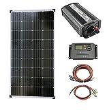 solartronics Komplettset 1x130 Watt Solarmodul 600 Watt Wandler Laderegler Photovoltaik Inselanlage
