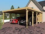 Carport Flachdach SILVERSTONE IX 600x800 cm mit Geräteraum Flachdachcarport