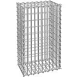 TecTake Gabione Steinkorb | Korrosionsbeständig und langlebig | Maschen 5x10 cm | Diverse Größen (100x30x50 cm | Nr. 402780)