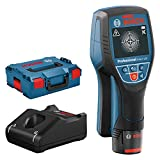 Bosch Professional 12V System Ortungsgerät D-tect 120 (1 Akku 12V, max. Ortungstiefe Kunststoffrohre/Holzunterkonstruktion/spannungsführende Leitungen/Eisenmetalle: 60/38/60/120/120 mm, L-Boxx)