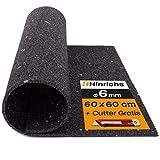 Hinrichs Antivibrationsmatte für Waschmaschinen - Gummimatte - Zuschneidbare Dämmmmatte als Waschmaschinenunterlage - 60 x 60 cm Rubber Mat