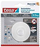 tesa Deckenhaken Tapeten & Putz - selbstklebender Haken - ideal zur Befestigung von Deko-Objekten - hält bis zu 0,5kg/Haken - spurlos ablösbar