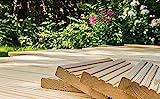 10€/lfm Terrassendiele sibirische Lärche Massivholz Gartenholz Terrassenholz Naturholzdielen Massivdiele (grob, 200)