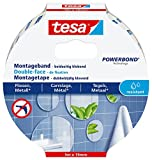 tesa Montageband für Fliesen und Metall (ideal geeignet als Spiegelklebeband) 5m x 19mm
