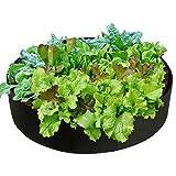 N/A Hochbeet-Tasche, rund, atmungsaktiv, extra groß, Stoff-Übertopf für Pflanzen, Gemüse, Blumen, Kräuter