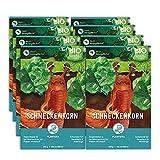 Plantura Bio Schneckenkorn, 8er Set, regenfester Power-Wirkstoff, extrem zuverlässig, für 4000 m²