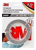 3M Power Montageband, extra starkes doppelseitiges Klebeband für Innen- und Außenanwendungen, powerbond ultra strong, 19 mm x 5 m x 0,8 mm, grau (1er Pack)