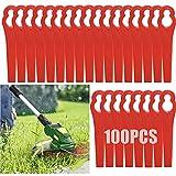 OFFOF 100 Stück Rasentrimmer-Klingen aus Kunststoff für Rasentrimmer, 83 mm, Rasenmähermesser, Gartenwerkzeug, Ersatzklingen für Terratek-Rasentrimmer, kabelloser Rasentrimmer