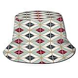 YZBEDSET Fischerhut,Einfache Bodenfliesen Muster abstrakt geometrisch,Unisex Sonnenhut Bucket Hat Anglerhut Fishermütze Outdoor Faltbar Cap
