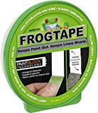 Frog Tape 631-00 FrogTape Abklebeband – Malerkreppband mit Paint-Block Technologie – Kreppband für saubere Kanten beim Streichen & Lackieren – 24mm x 41m, grün