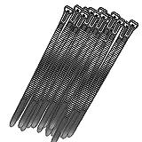 Jtkeji Ultra Starkes Kabelbinder,Kabelbinder schwarz,100 Stück Profi Kabelbinder,250 x 8 mm,Hitzebeständig,strapazierfähiger,Langlebig,UV Betändig, für Industrie PC Garten