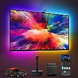 Govee Immersion WiFi LED TV Hintergrundbeleuchtung mit Kamera, RGBIC LED Strip, für 55-65 Zoll TV und PC, App-Steuerung, kompatibel mit Alexa und Google Assistant, für TV und PC