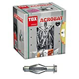 TOX Metall-Hohlraumdübel Acrobat M8 x 55 mm verzinkt, für Befestigungen in Gipskartonplatten, 25 Stück, 035101171