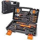 Werkzeugkoffer 56 teiliges Werkzeug Sets für tägliche Reparatur und Heimwerker, Heimwerker-Werkzeugkasten inklusive Maßband, Präzisionsschraubendreher, Sechskantschlüssel usw