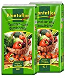 Plantaflor Plus Tomatenerde Gemüseerde 80 (2 x 40 L) Erde Gewächshaus Erde