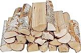 Hoyo Technology GmbH 31 Kg Birke Kaminholz Brennholz Feuerholz Grillholz trocken 25 cm Länge