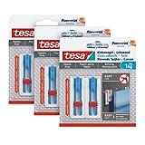 tesa Klebenagel Tapeten & Putz 1kg im 3er Pack - höhenverstellbar - selbstklebender Nagel - ideal für Leinwand & Keilrahmen - hält bis 1kg/Nagel - spurlos ablösbar