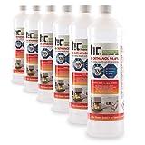 Höfer Chemie 6 x 1 L Bioethanol 96,6% Premium - TÜV SÜD zertifizierte QUALITÄT - für Ethanol Kamin, Ethanol Feuerstelle, Ethanol Tischfeuer und Bioethanol Kamin