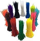 1200 Stück farbige Kabelbinder 100mm – Kabelbinder farbig bunt– Hohe Qualität Starke Nylon Zip Kabelbinder von, mehrfarbig, Kabelbinder Set - UV-Beständig