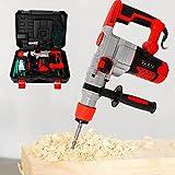Elektrische Schwerlast Hammer mit Koffer Bohrer Meißel 2200W Bohrhammer 930r/min Hochpräziser Kupferkernmotor, starke Leistung, hohe Temperaturbeständigkeit und lange Lebensdauer