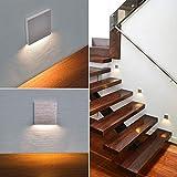 LED Treppenbeleuchtung 6190S Aluminium 90x90x40 mm 2,5 Watt Stufenlicht Wandleuchte unterputz Treppenbeleuchtung