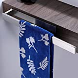Cooceco Handtuchhalter ohne Bohren SUS 304 Edelstahl Habdtuchhalterung Selbstklebend Badetuchstange 39CM Badetuchhalter Badezimmer, Handtuchstange für Bad und Küche