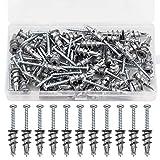 50 Set Schrauben und Dübel für Gipskarton selbstbohrend Gipskartondübel Metall Gipsdübel Gipsplatten-Metalldübel für Gipskarton- und Gipsfaserplatten