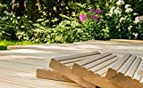 10€/lfm Terrassendiele sibirische Lärche Massivholz Gartenholz Terrassenholz Naturholzdielen Massivdiele (fein, 150)