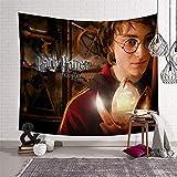 KOREYOSHIX Harry Potter Wandteppich, Wandbehang, Heimdekoration, Malerei, Barriere, Vorhänge, 230 x 180 cm