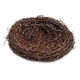 Blesiya Vogelnest Osternest Naturnest Deko Nest Frühling Zweige Rattan Nest - Braun, 6cm