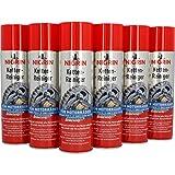 Nigrin 20854 6x Kettenreiniger, 500 ml Sprühdose, Kettenspray für Motorrad, reinigt und entfettet Motorradketten, farblos