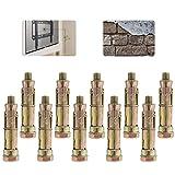 Hohlraumdübel, Hohlraum Metalldübel Metall Hohlraumanker, M8 x 60mm Spreizdübel, Zur Verwendung in Massivwänden, Beton & Mauerwerk (10-teilig)
