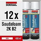 12x Soudal Soudafoam 2K B2 Schaum Adapterschaum Zargenschaum Schnellschaum 400 ml