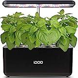 iDOO Hydroponische Anzuchtsysteme, Smart Indoor Garden Anzuchtsystem mit LED Pflanzenlampe, Automatisches Timer Keimungs Kit, Höhenverstellbar, 37cm, Schwarz (7 Pods)