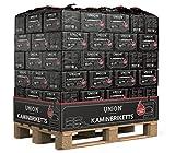 100-1000kg Palette (0,34-0,58€/kg) Kohle Briketts 10kg in der Papiertüte Top Gluthalter Kamin Ofen Brikett Kohlebriketts (960)