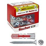 Fischer–Dübel Duopower mit Schraube, grau, 544017