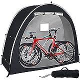 2021 Neues Fahrradzelt, dauerhafte wetterfeste Fahrradabdeckung, Fahrradaufbewahrung Schutzhülle Zeltschuppen für Garten/Outdoor/Home Shelter (Schwarz)