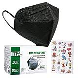 HO-COMFORT 25 Stück FFP2 Maske mit Aufkleber, FFP2 Atemschutzmaske Bunt Gedruckte ce zertifiziert 5 lagige Staubschutzmaske Hygienisch Einzelverpackt