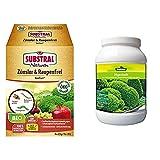 Naturen Bio Zünsler-und Raupenfrei XenTari, Hoch wirksames biologisches Spritzpulver gegen Buchsbaumzünsler, 8x2,5g Portionsbeutel & Dehner Algenkalk zur Blatt- und Bodendünung, 2 kg, für ca. 40 qm