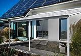 Home Deluxe - Terrassenüberdachung weiß - Maße 312 x 303 x 226/278 cm - inkl. komplettem Zubehör | Wintergartendach Verandaüberdachung Vordach