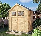 Alpholz Gerätehaus Alisha aus Fichten-Holz   Gartenhaus mit 14mm Wandstärke   Holzhaus inklusive Montagematerial   Geräteschuppen Größe: 202 x 131 cm   Satteldach