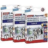 Powerstrips Large im 3er Pack - Doppelseitige Klebestreifen zur Montage von Gegenständen auf glatten Oberflächen - Bis zu 2kg Halteleistung - insgesamt 30 Powerstrips